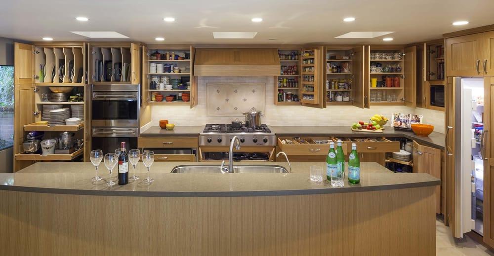 Kitchen organization with bentwood luxury cabinets and for Bentwood kitchen cabinets