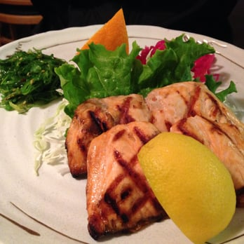 ... SALMON SHIOYAKI, $16: broiled salmon without sauce. Tender and not dry