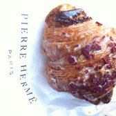Cranberry bits glazed croissant with cranberry jam filling