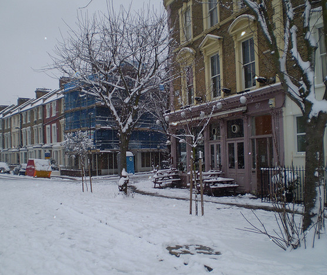 Landseer pub - winter time