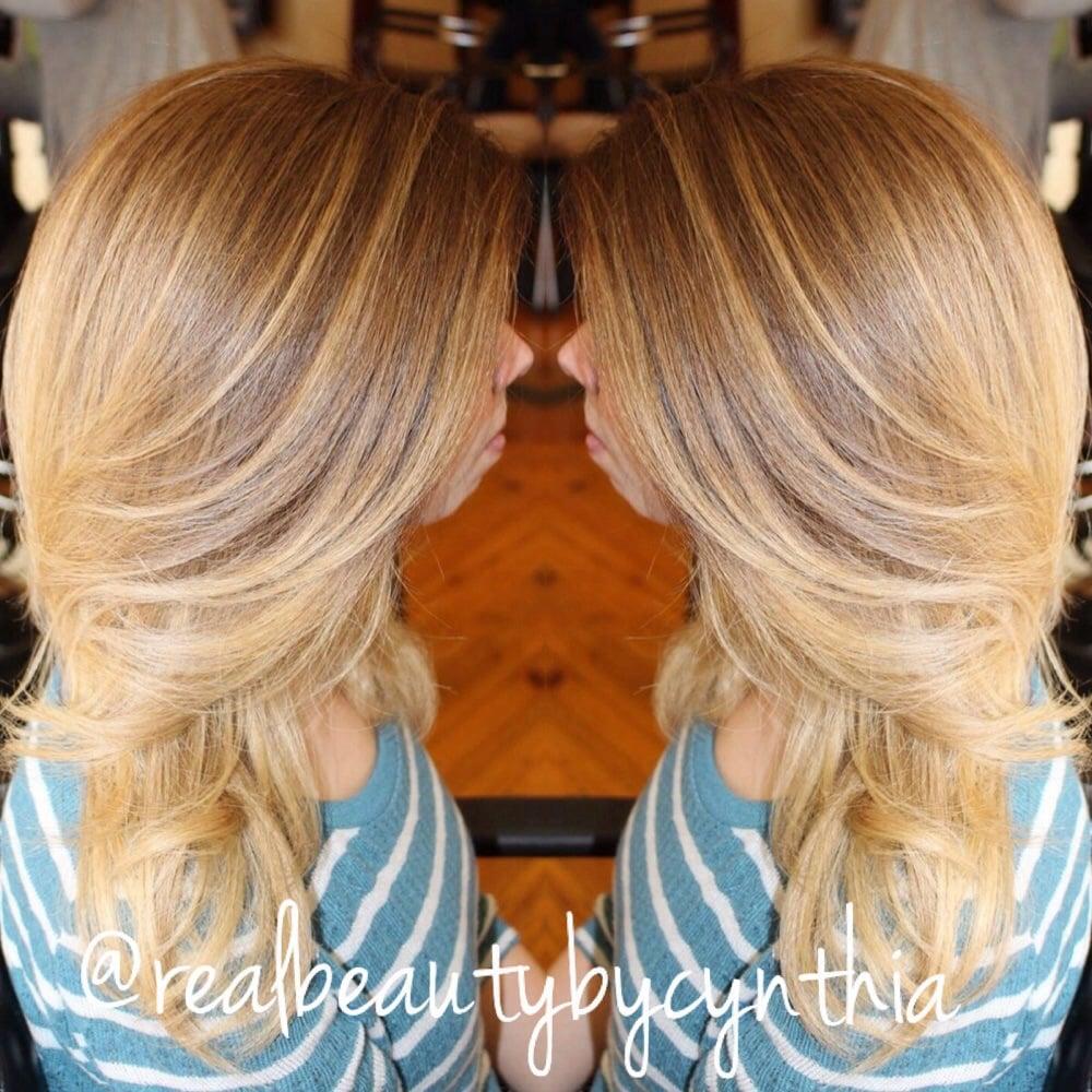 Balayage highlights on naturally dirty blonde hair | Yelp