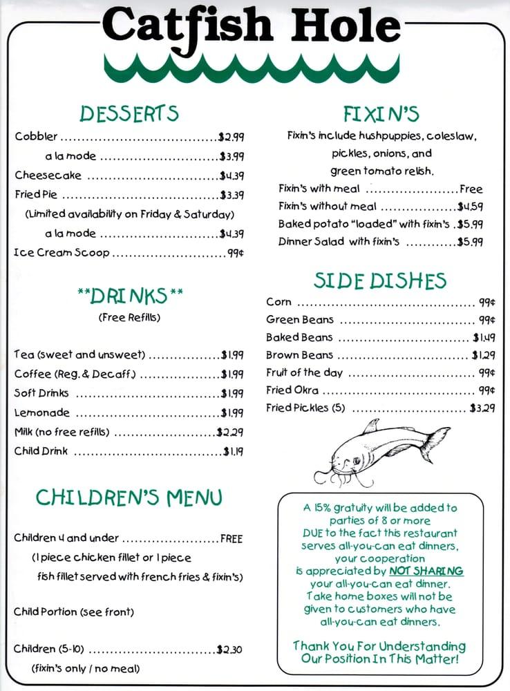 Alma (AR) United States  City new picture : Catfish Hole Restaurant Alma, AR, United States. Menu Page 2