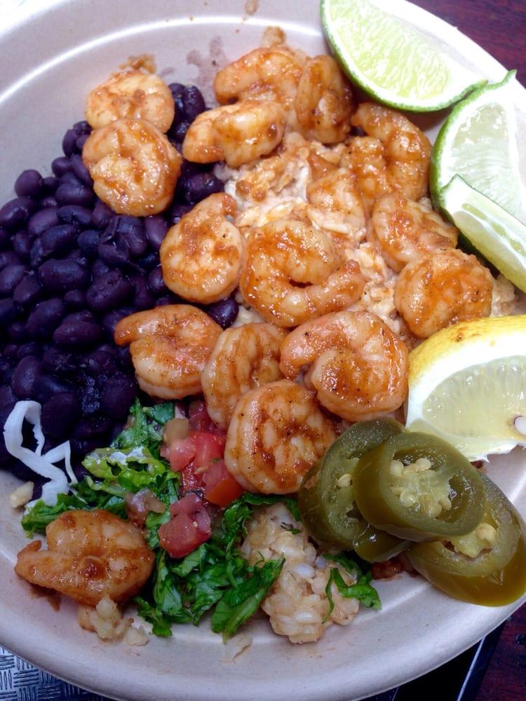 Shrimp bowl brown rice was soft and mushy p yelp for Wahoo fish taco