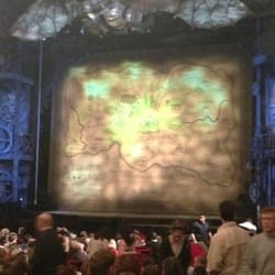 The opening backdrop before Wicked begins. The show was incredible