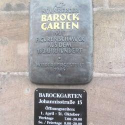 Barockgarten in der Johannisstrasse, Nürnberg, Bayern