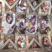 Stolen Michelangelo photo inside the Sistine Chapel