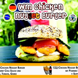 Weltmeister Chicken Nugget Burger Bagel