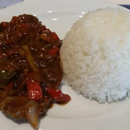 La Bandera - Bistec with Rice and Beans