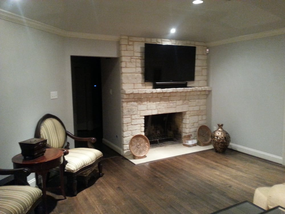 Sonos Sound Bar And TV Mounted Over Brick Fireplace Yelp