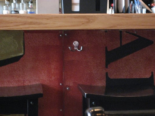 Ooooh! Purse Hooks For Bar Rail. Every Bar Should Have