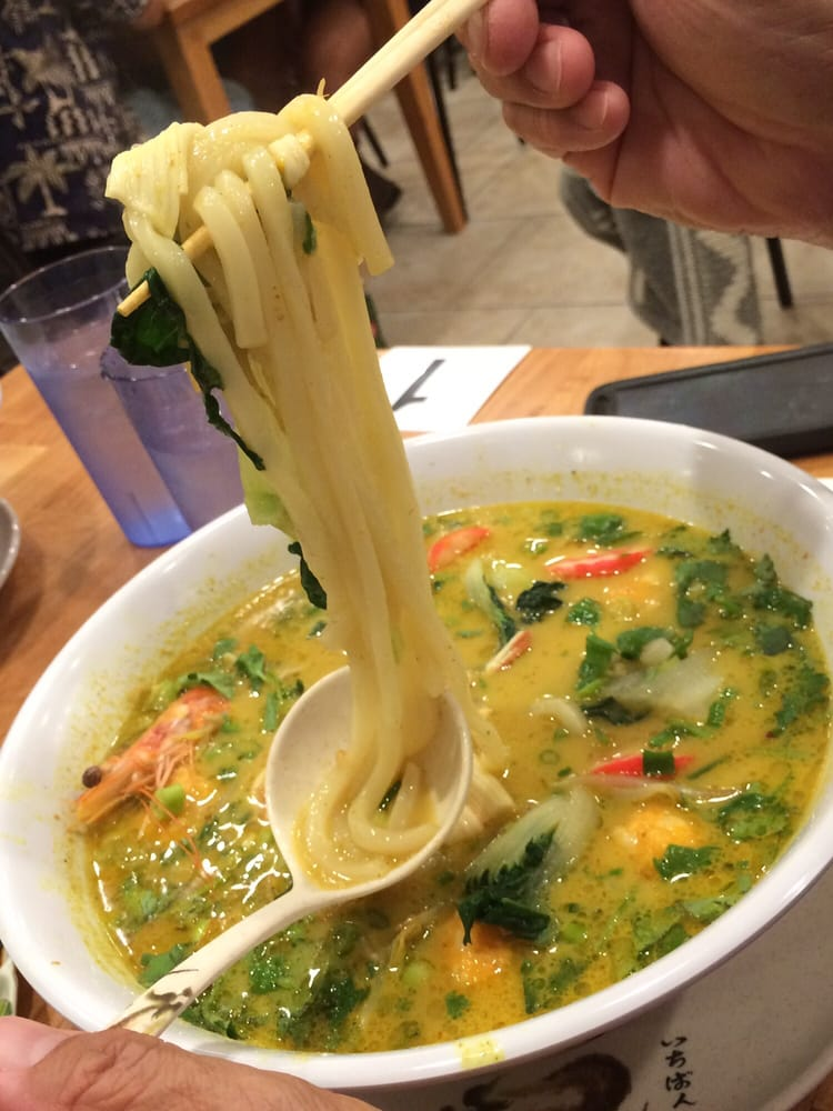 Aunty Ramen - Honolulu, HI, United States. Fran C.'s udon noodles in curry soup!
