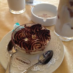 Tiramisu and two cappuccino freddos.…