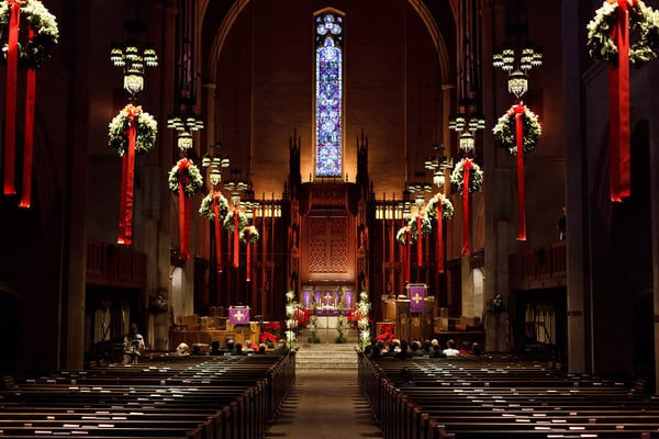 Congregational Church of Los Angeles - Christmas Decor in Sanctuary ...