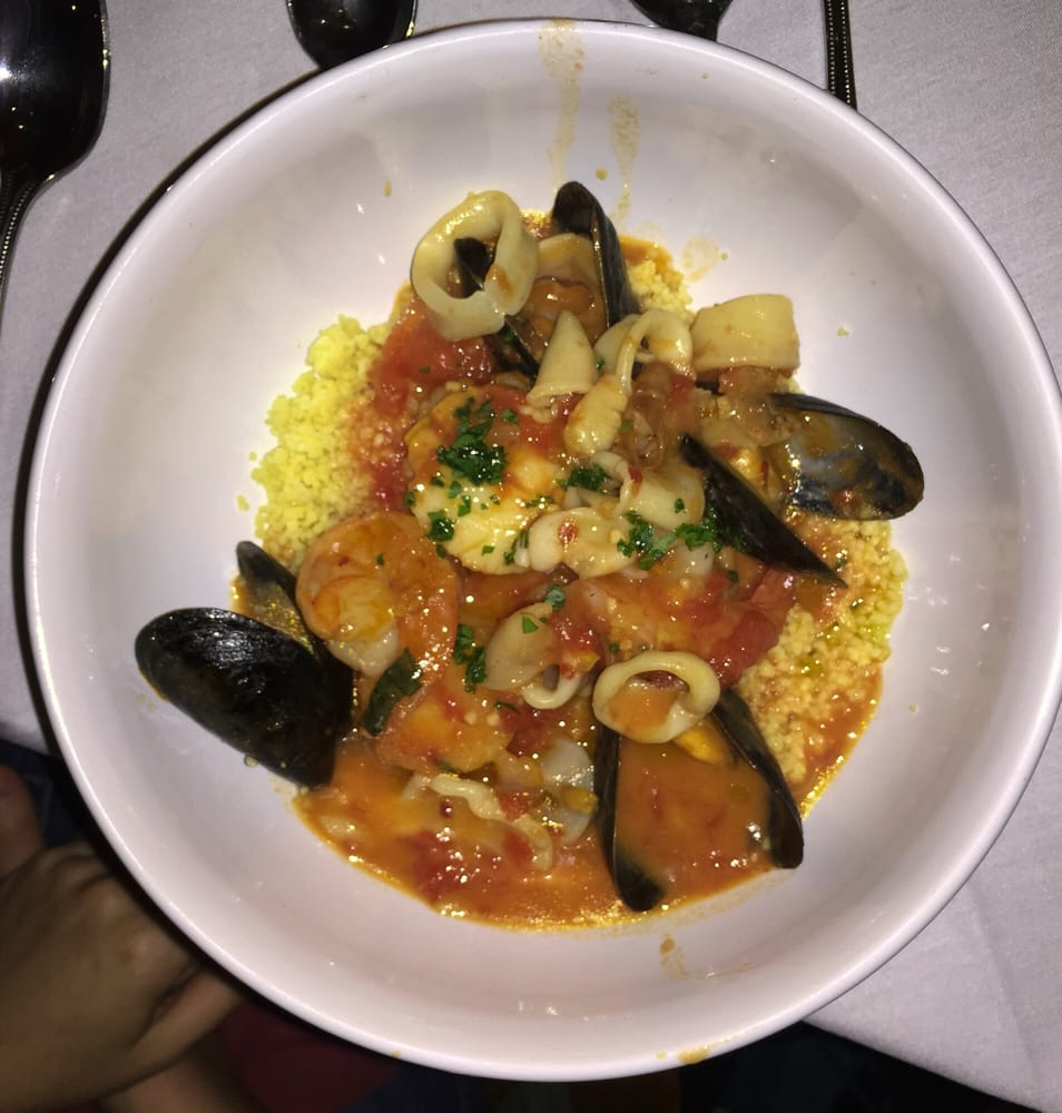 The Tunisian seafood stew (mussels, calamari, shrimp, & sea scallops ...