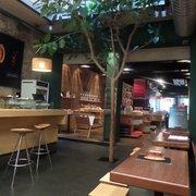 Tree inside the cafe