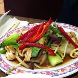 Pak Choi in Austernsauce mit Rindfleisch