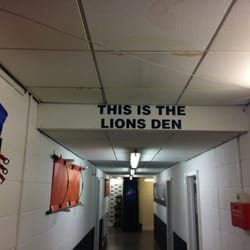 Outside the changing rooms