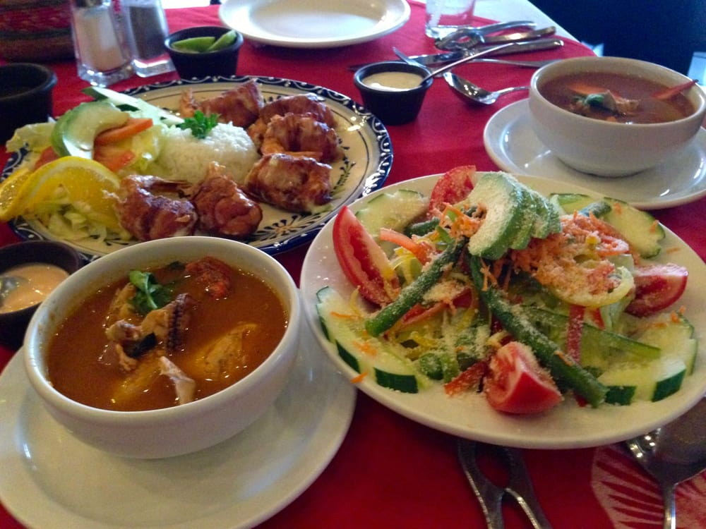 Mocambo Cabo San Lucas Mariscos Mocambo Bacon Wrapped Shrimp Seafood Soup And Salad Cabo San