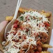 Mellow Yellow Food - Basque Chorizo Chili Fries....so yummy! - Sparks, NV, Vereinigte Staaten