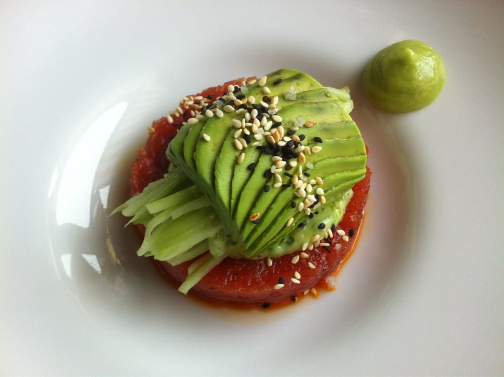 sweet basil cucumber avocado salad tuna tartare creamy avocado tuna ...