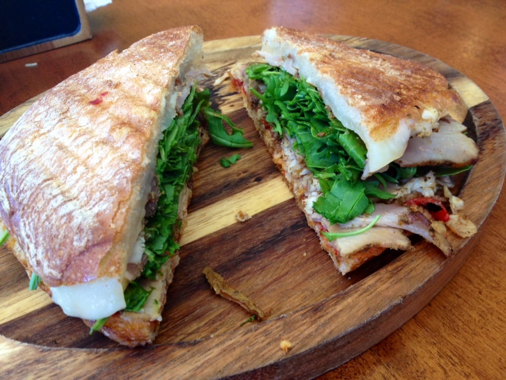 Porchetta Sandwich With Balsamic Caramelized Onions, Asiago Cheese And ...