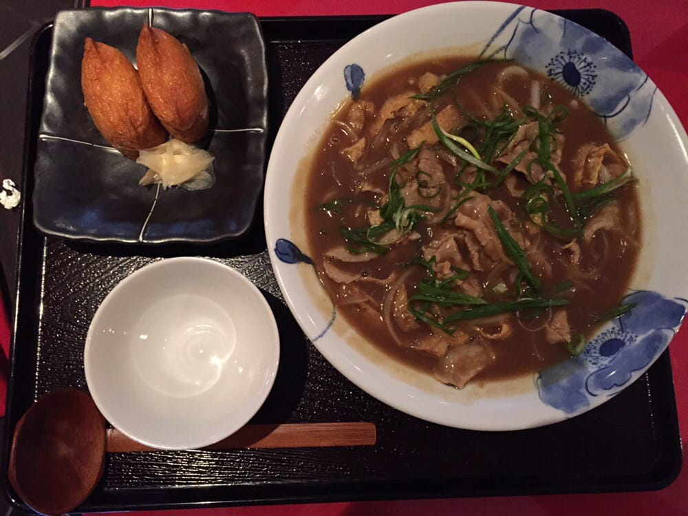 Curry Udon And Inari Sushi
