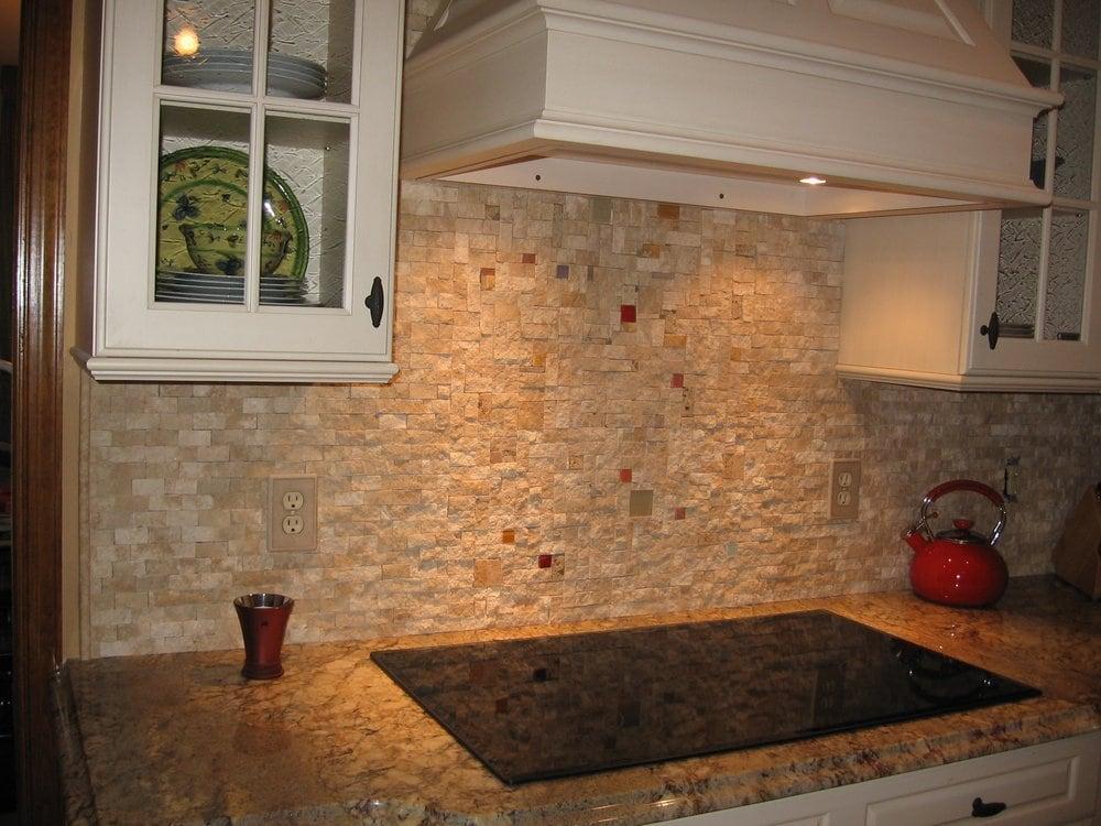 Split stone backsplash yelp Stone backsplash tile