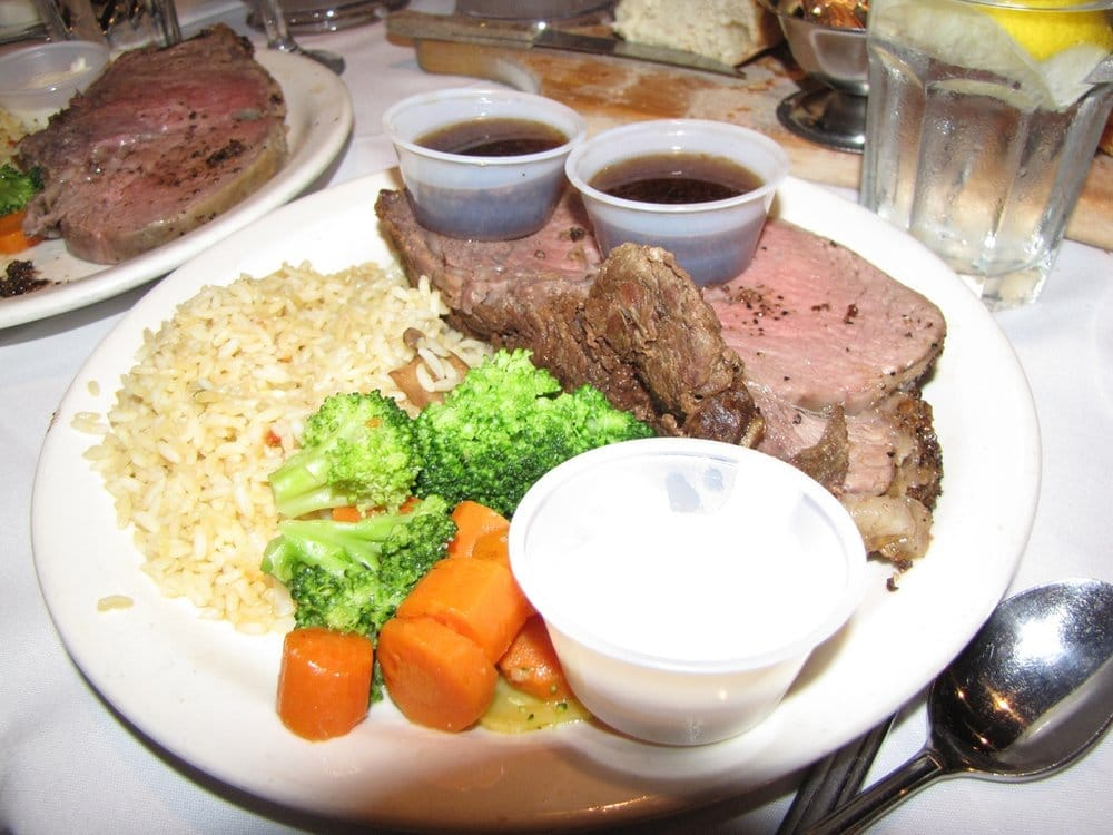 prime rib with au prime rib dinner a 10 ounce slow roasted prime rib ...