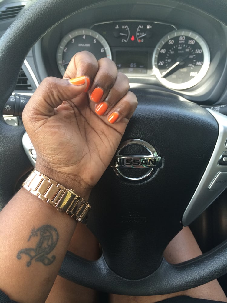 Nail Addict - Newport News, VA, United States. LOVE my Orange Nails #
