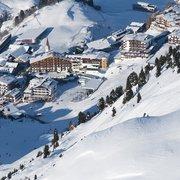 Skifahren, direkt bis vor die Hoteltüre