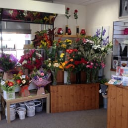The flower stand inside Floral Expression Armley