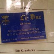 Le Duc - Paris, France