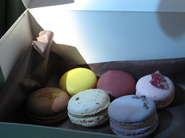 (from L to R) Meyer Lemon, Raspberry, Rose, Chocolate ...