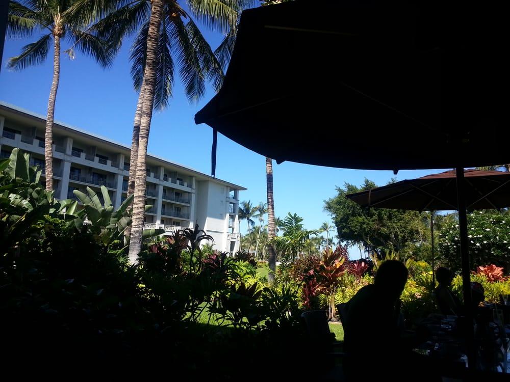 Kamuela Hawaii Restaurants The Orchid Court Restaurant View From The Outdoor Patio Kamuela hi