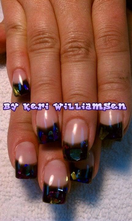 Sassy Nails - Reno, NV, United States. Black gel with mylar