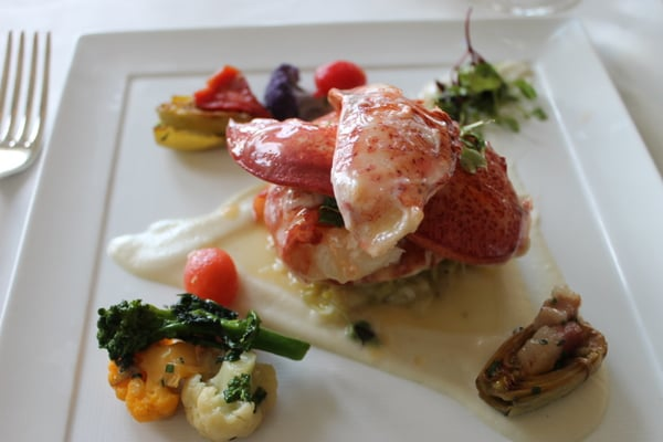 lobster salad lobster roll poached lobster with vegetable macedonia ...