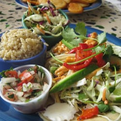 OceanBleu at Gino's Fish Market & Cafe - Fish tacos with the catch of the day. - Newport, OR, Vereinigte Staaten