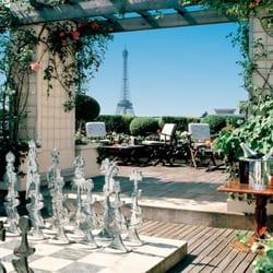 La terrasse de l'hôtel, ouverte aux…