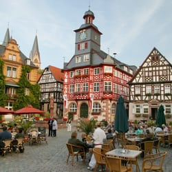 Der historische Marktplatz in Heppenheim