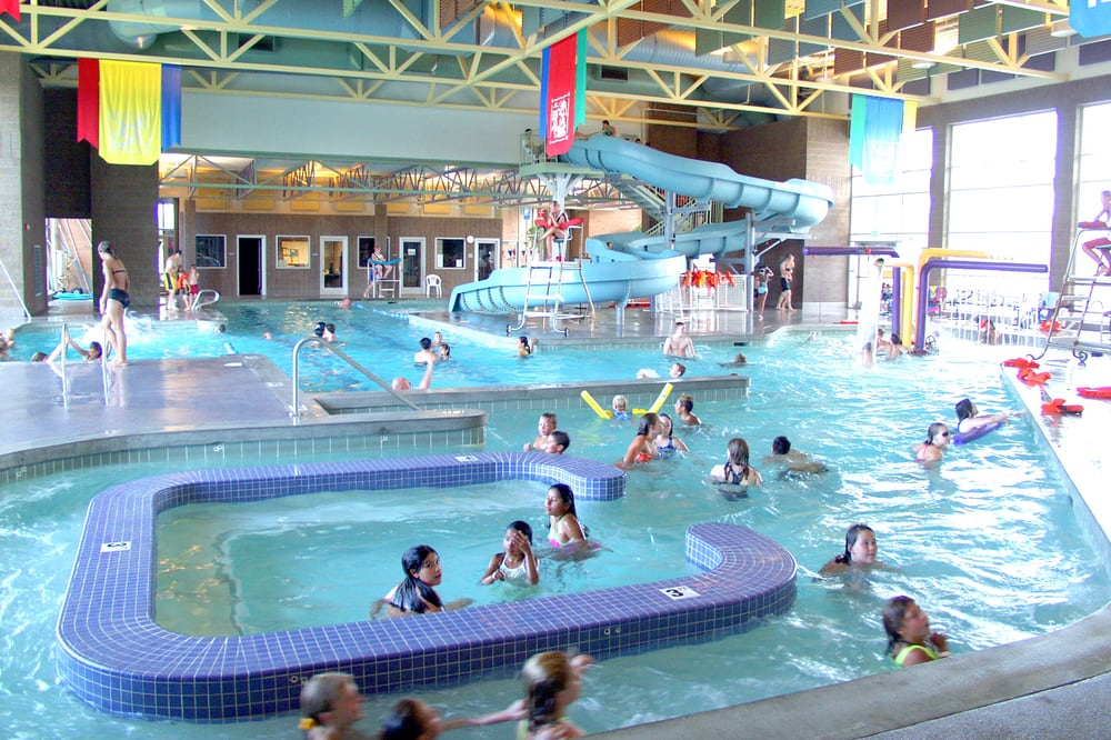Indoor recreation pool with slide current canal and water for Indoor pools in utah