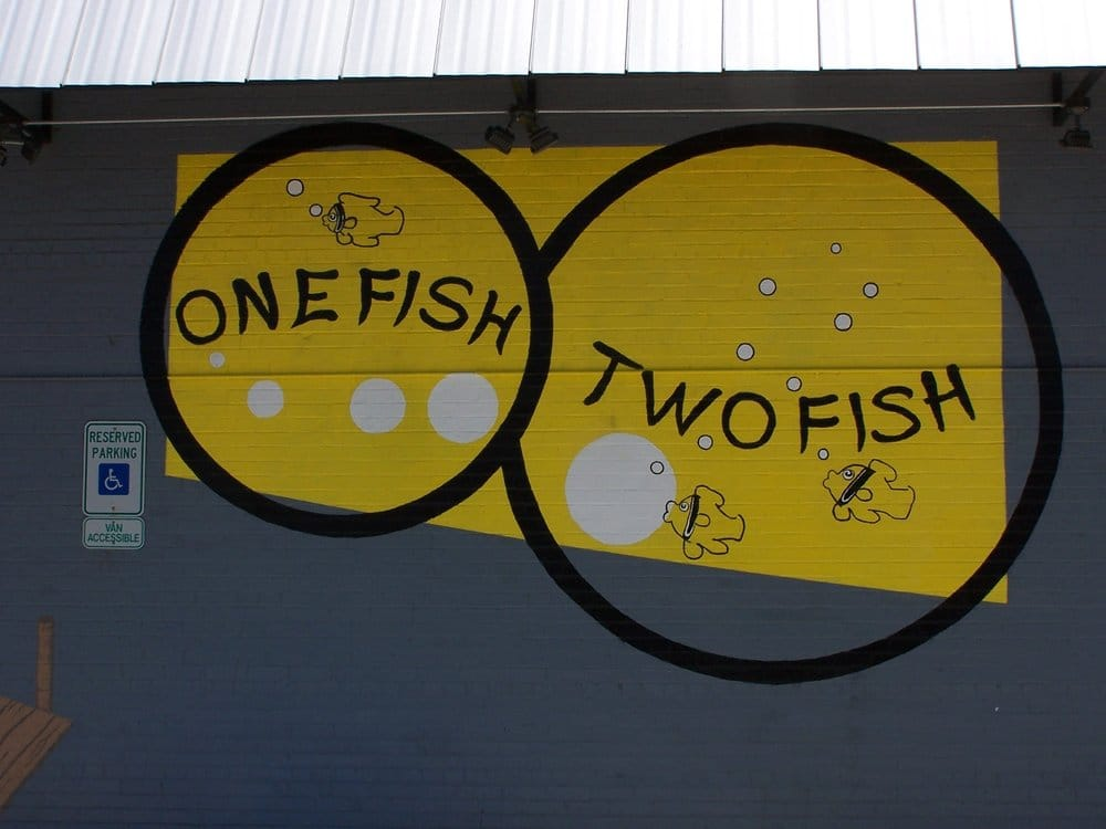 One fish two fish closed sushi 210 s hwy 377 for One fish two fish menu
