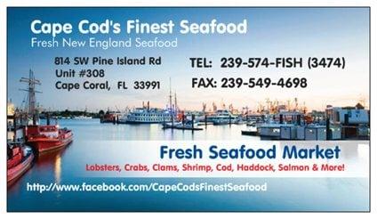 Cape cod s finest seafood cape coral fl yelp for Cape cod fish market