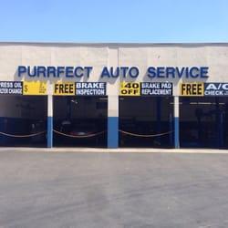 Purrfect Auto Service - Covina, CA, États-Unis. Front of Shop