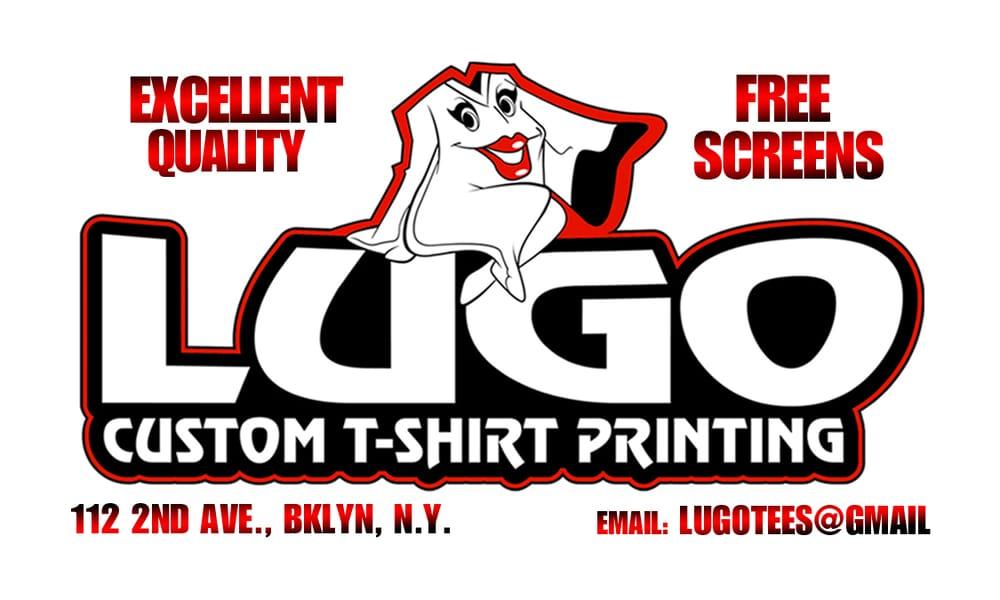 Lugo custom t shirt printing printing services gowanus for T shirt printing brooklyn