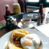 All day breakfast £6. Good quality but no swaps on getting rid of the bacon.