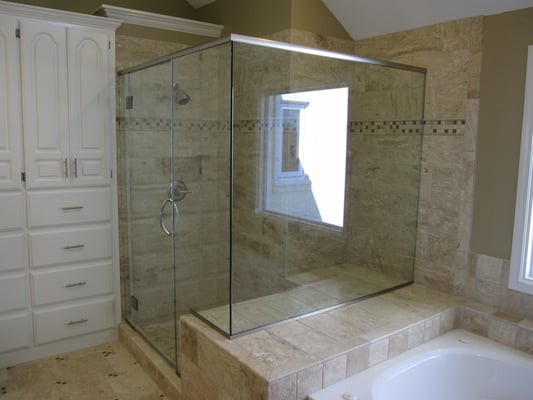 large walk in glass shower in lenexa ks yelp. Black Bedroom Furniture Sets. Home Design Ideas