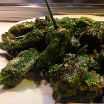 Padron peppers grilled, salted and drizzled with olive oil is one of the reasons I am inspired by Spanish cuisine.