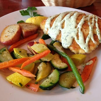 Hazelnut crusted Halibut with lemon zest, perfectly cooked veggies and ...