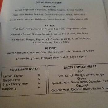 mercer kitchen restaurant week menu | iecob