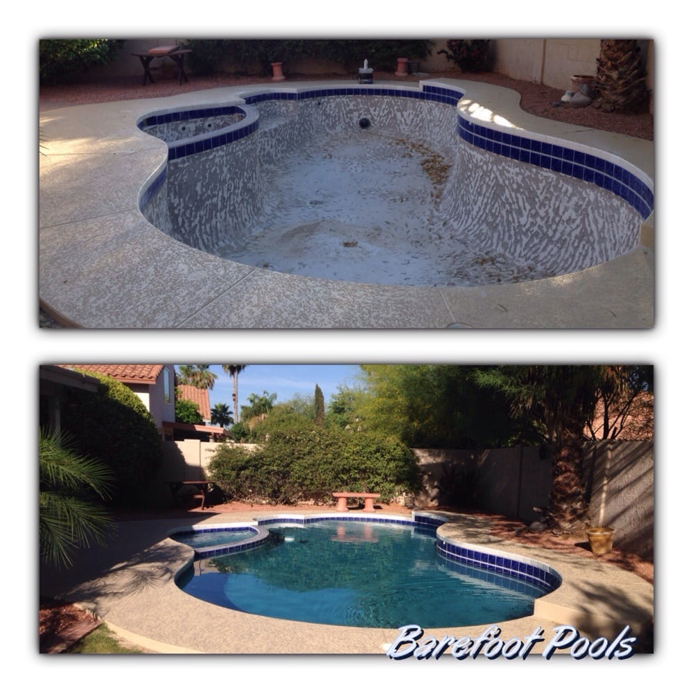Barefoot pools pool service repair 58 photos pool for Pool resurfacing phoenix az
